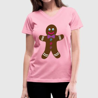 Gingerbread Cookie Gingerbread Cookie - Women's V-Neck T-Shirt