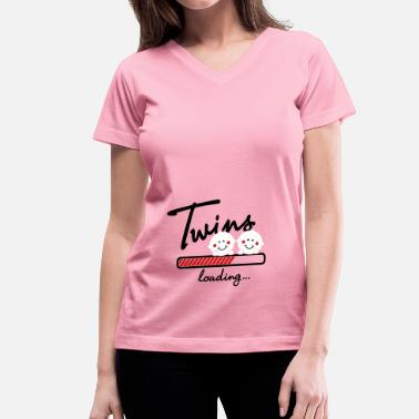 Twins Twins loading... - Women's V-Neck T-Shirt
