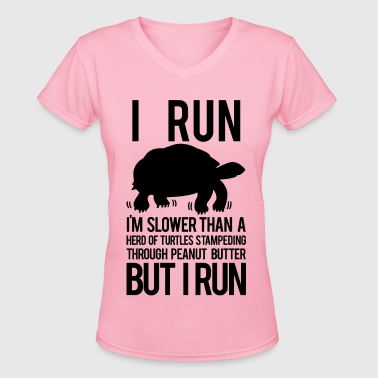 Slower than a turtle - Women's V-Neck T-Shirt
