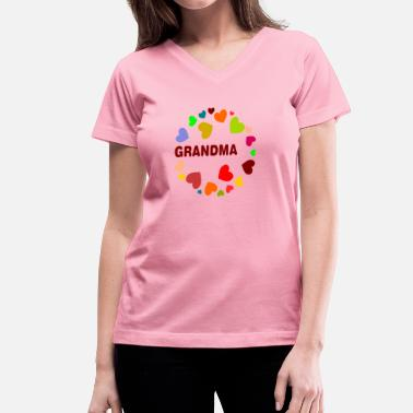 Mothers Or Fathers Day Grandma - Women's V-Neck T-Shirt
