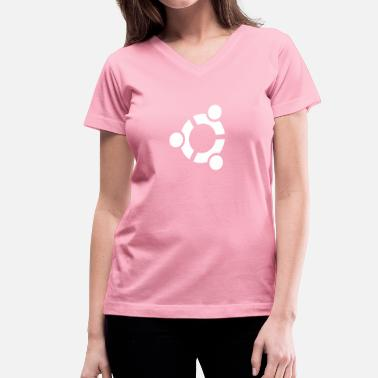 Android Logo Nerd UbuntuCircle - Women's V-Neck T-Shirt