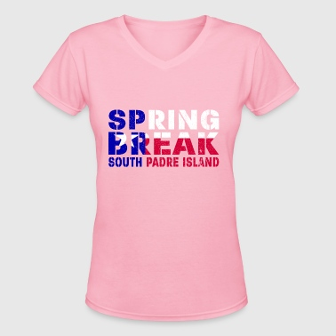 sprin break South Padre I - Women's V-Neck T-Shirt