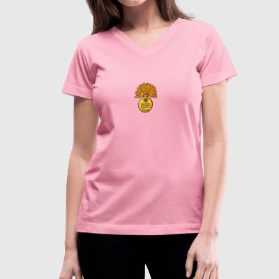 cgg_cap_bage - Women's V-Neck T-Shirt