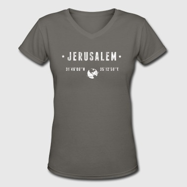 Jerusalem - Women's V-Neck T-Shirt
