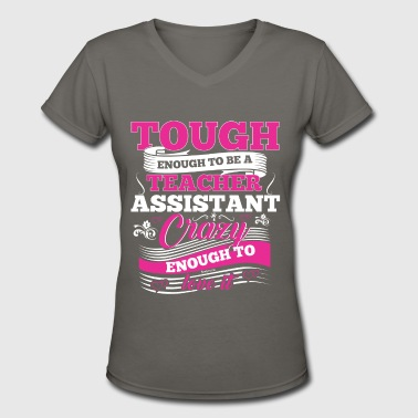 The Teacher Assistant Preschool Kindergarten Tee - Women's V-Neck T-Shirt