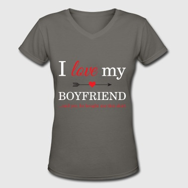 I Love My Boyfriend - Women's V-Neck T-Shirt