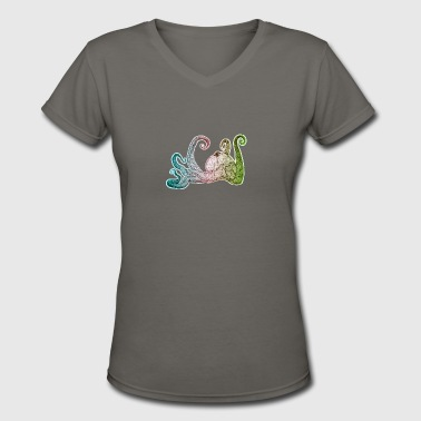 Hand Drawn Octopus - Women's V-Neck T-Shirt