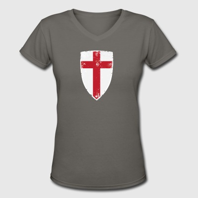 Flag of England - Women's V-Neck T-Shirt