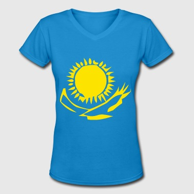 Abstract Eagle Eagles Under the Sun Abstract - Women's V-Neck T-Shirt