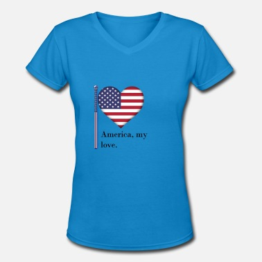 The British Empire Independence Day - Women's V-Neck T-Shirt