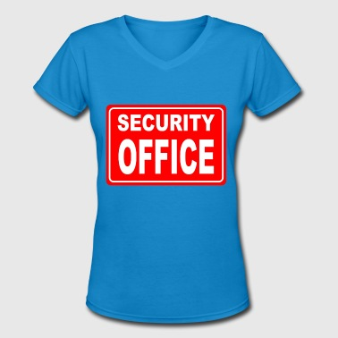 It Security Sport SECURITY OFFICE - Women's V-Neck T-Shirt