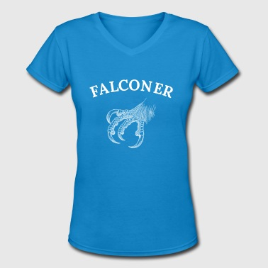 Eagle Falcon Falconer, falconry, eagle, falcon - Women's V-Neck T-Shirt