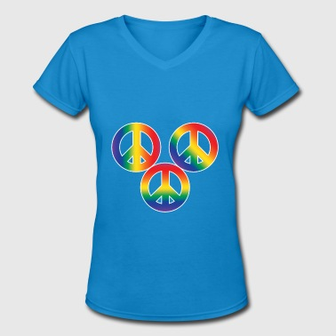 Christopher Street Day Peace and Tolerance - Women's V-Neck T-Shirt