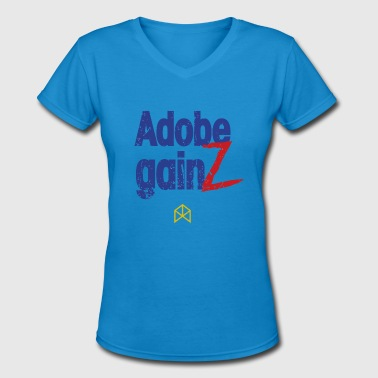 Adobe Adobe Gainz - Women's V-Neck T-Shirt