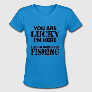Crab Fishing Sport Fishing - Women's V-Neck T-Shirt