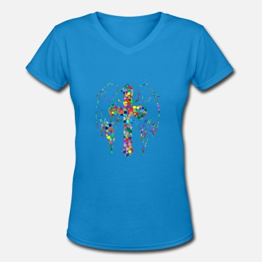 Angel Christ christ - Women's V-Neck T-Shirt
