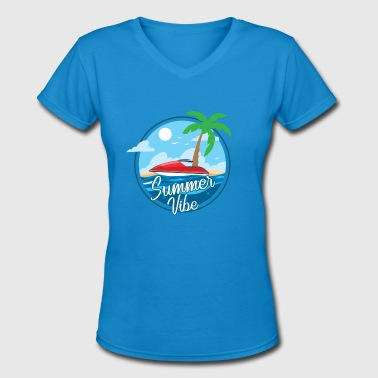 summer vibe island holiday Gross - Women's V-Neck T-Shirt