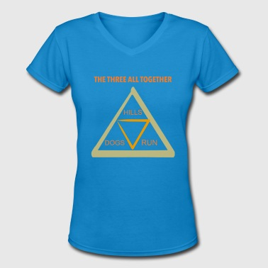 3 Triangles Run4Dogs Triangle - Women's V-Neck T-Shirt