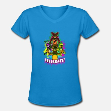 Celebrate Celebrate - Women's V-Neck T-Shirt