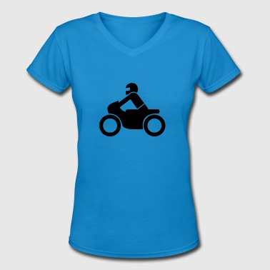 Bikes Illustration motorcycle illustration - Women's V-Neck T-Shirt