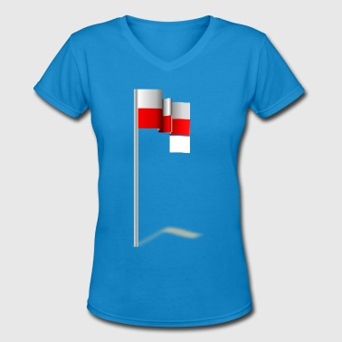 Great Poland Flag For Poland Lovers Gift Idea - Women's V-Neck T-Shirt