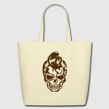A skull with a 50s haircut - Eco-Friendly Cotton Tote