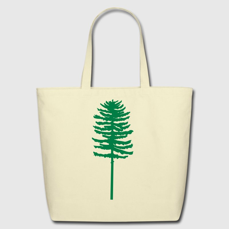 tall skinny green tree - Eco-Friendly Cotton Tote