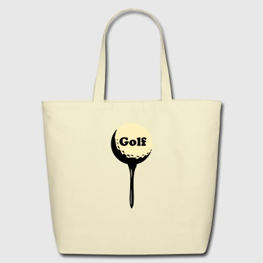 golf ball and tee - Eco-Friendly Cotton Tote