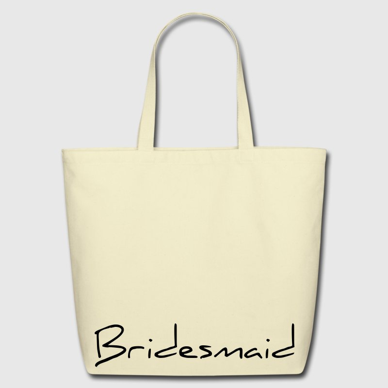 Bridesmaid Text Word Graphic Design Picture Vector - Eco-Friendly Cotton Tote