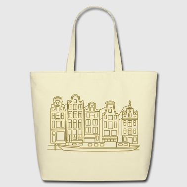 Amsterdam Canal houses - Eco-Friendly Cotton Tote
