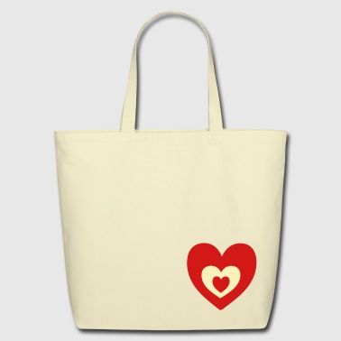 Heart in heart - Eco-Friendly Cotton Tote