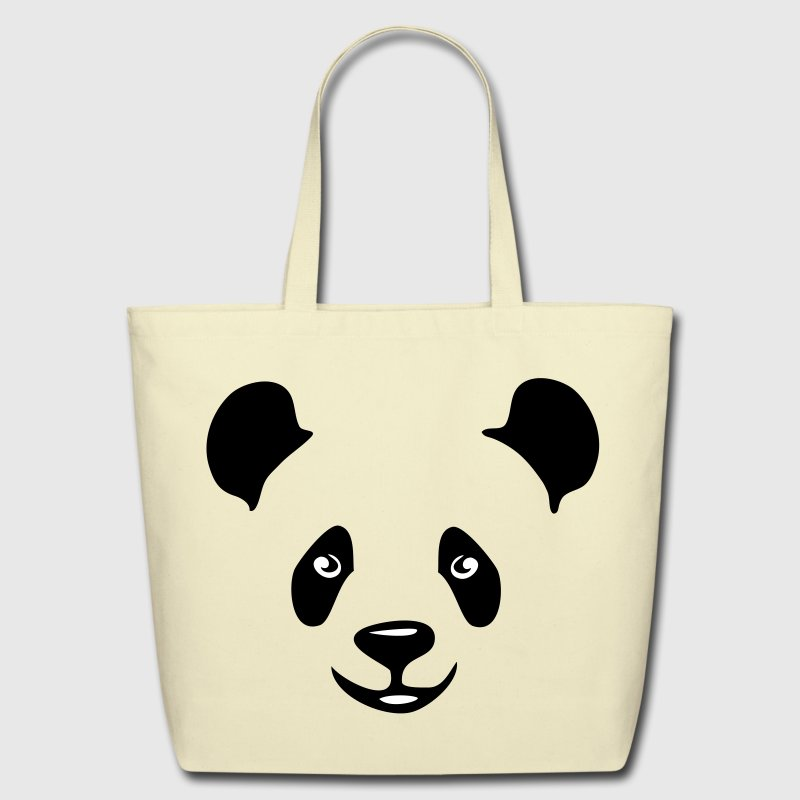 panda teddy bear face cute animal save - Eco-Friendly Cotton Tote