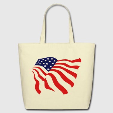 american flag - Eco-Friendly Cotton Tote