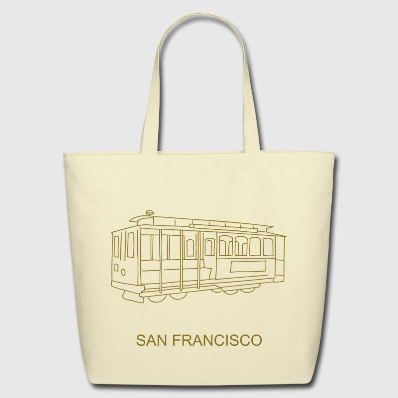San Francisco Cable Car - Eco-Friendly Cotton Tote