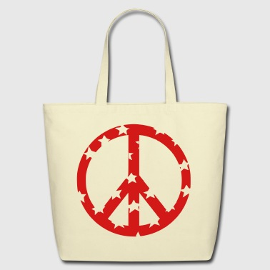 peace sign - Eco-Friendly Cotton Tote