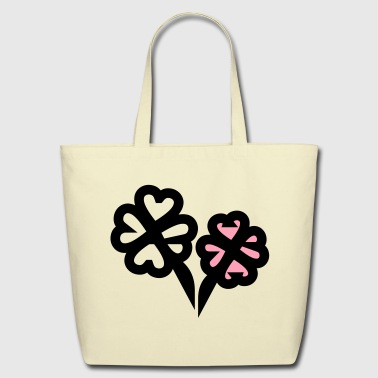four-leaf clover - Eco-Friendly Cotton Tote