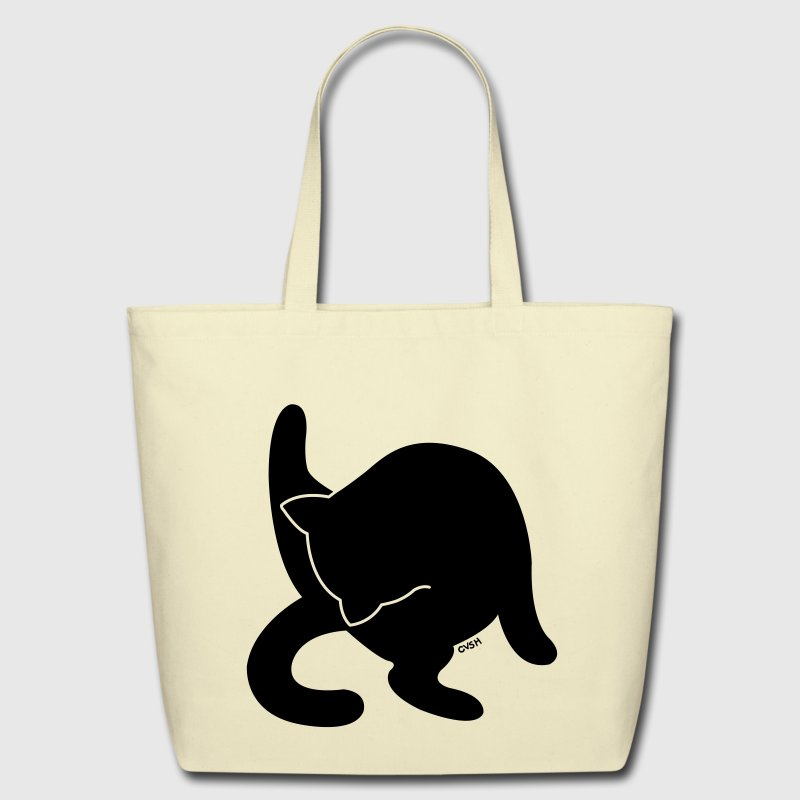 Black Cat Versus Humans mp - Eco-Friendly Cotton Tote