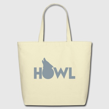 moon wolf HOWL - Eco-Friendly Cotton Tote