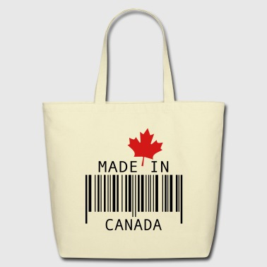 Made in Canada Red - Eco-Friendly Cotton Tote