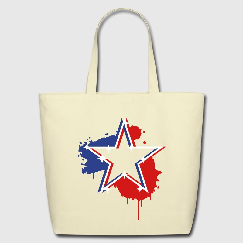 3D graffiti star design  - Eco-Friendly Cotton Tote