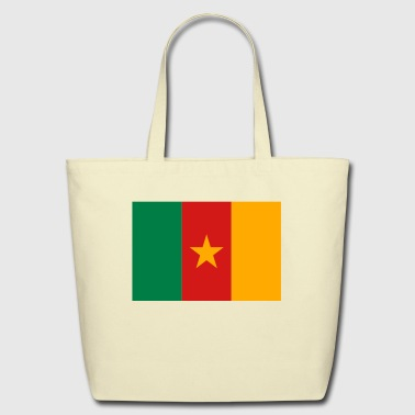 Flag Cameroon (3c) - Eco-Friendly Cotton Tote