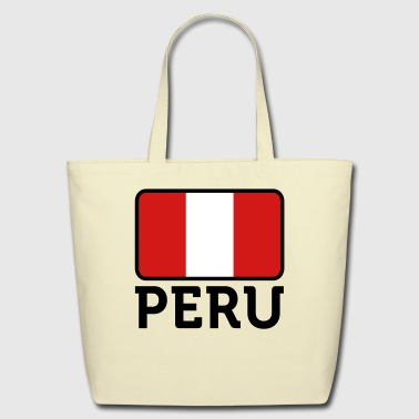 Flag Peru 2 (3c)++ - Eco-Friendly Cotton Tote
