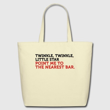 Point Me To The Nearest Bar (2c) - Eco-Friendly Cotton Tote