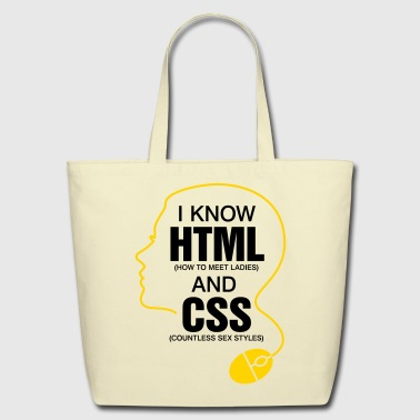 I Know Html 3 (2c)++ - Eco-Friendly Cotton Tote