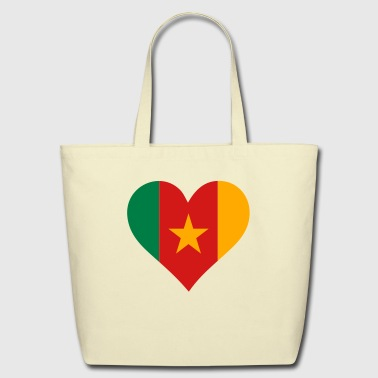 A heart for Cameroon - Eco-Friendly Cotton Tote