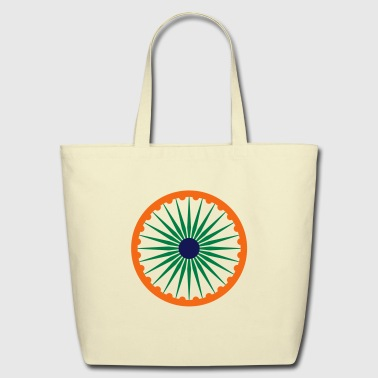 chakra ashoka flag - Eco-Friendly Cotton Tote