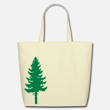 Tree tall pine green tree - Eco-Friendly Tote Bag