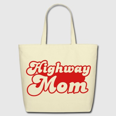 highway mom - Eco-Friendly Cotton Tote
