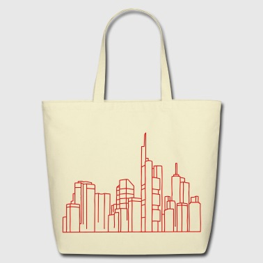 Skyline of Frankfurt - Eco-Friendly Cotton Tote