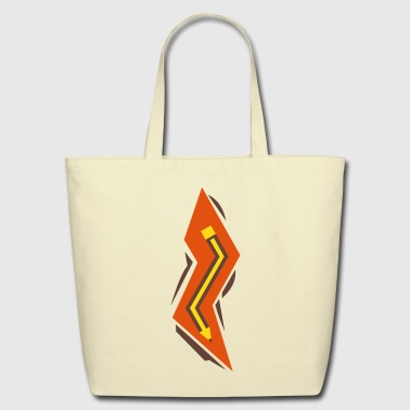 Pencil Lightning Bolt - Eco-Friendly Cotton Tote